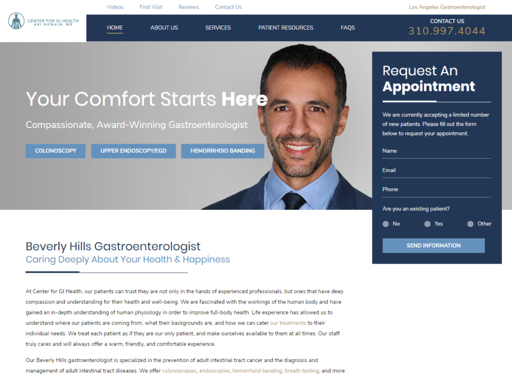 Center for GI Health Home Beverly Hills Gastroenterologist