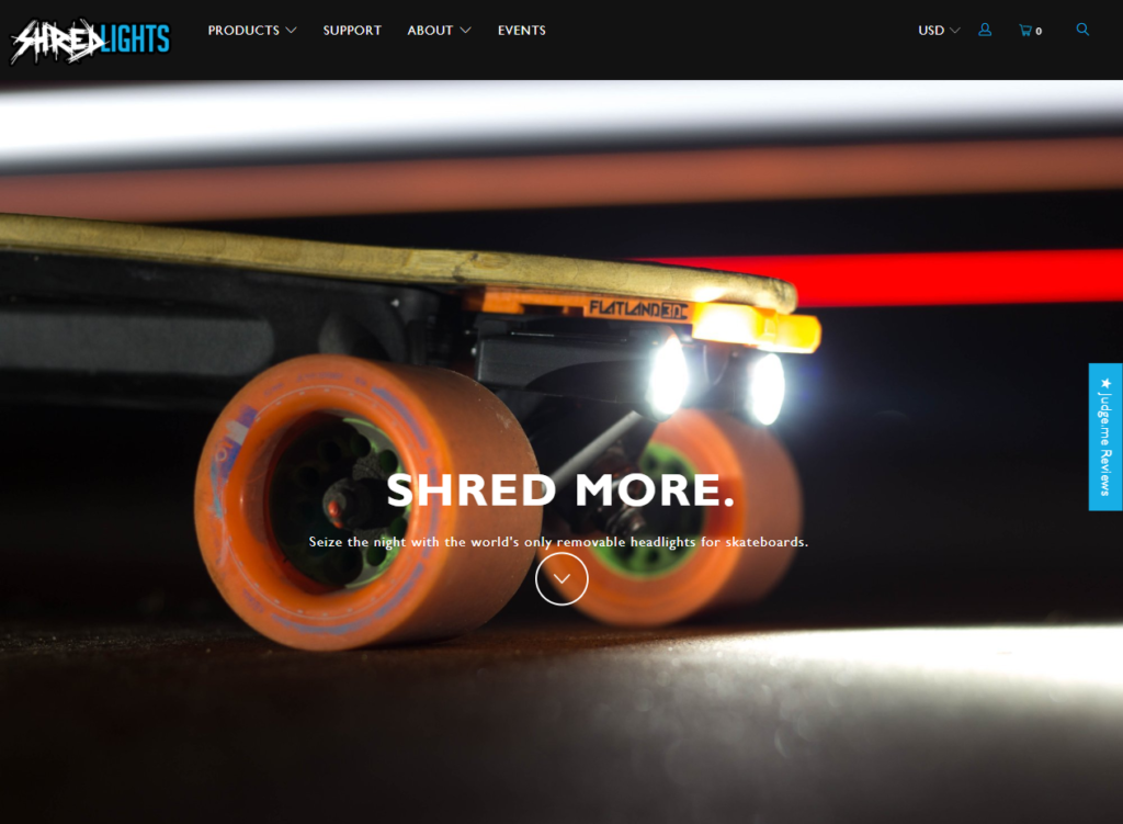 Headlights for Any Skateboard ShredLights