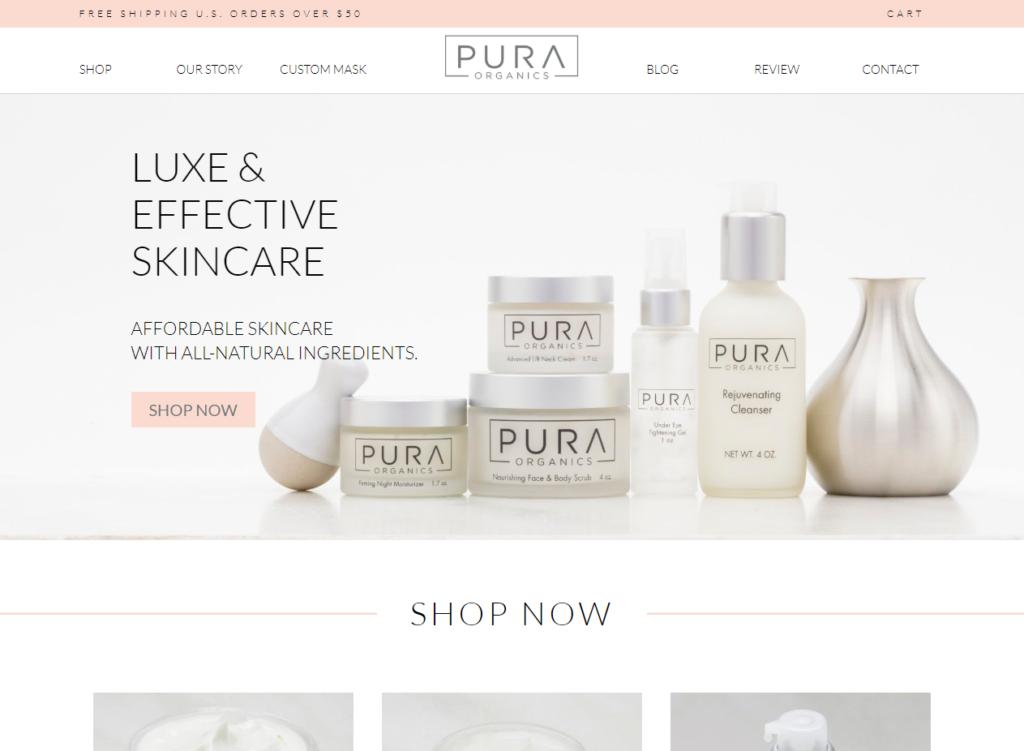 Pura Organics Skincare Luxe Effective Natural Skincare
