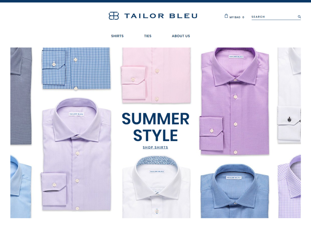 Shirts Ties Tailor Bleu