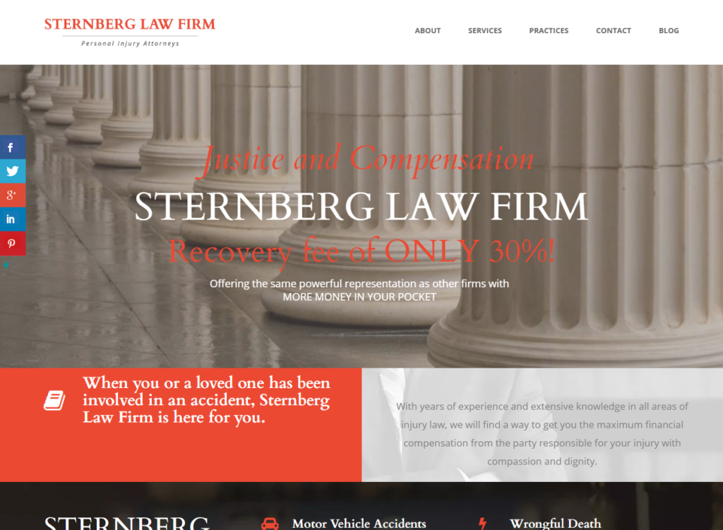 Sternberg Law Firm Personal Injury